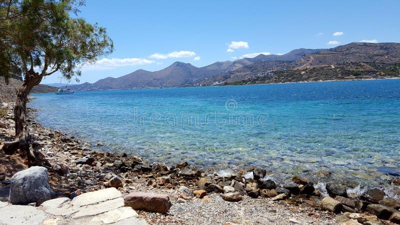 Красивый вид на море Крит стоковое фото