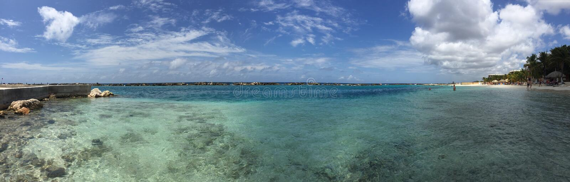 Красивый вид на Curaçao стоковое фото