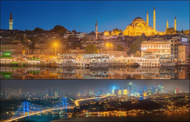 Красивый вид Bosphorus и городского пейзажа Стамбула стоковые изображения
