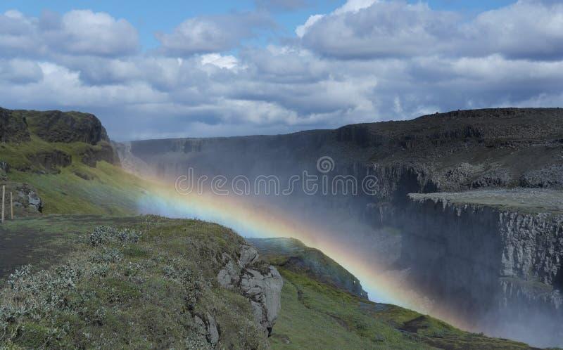 Красивый водопад Dettifoss в Исландии стоковые изображения rf