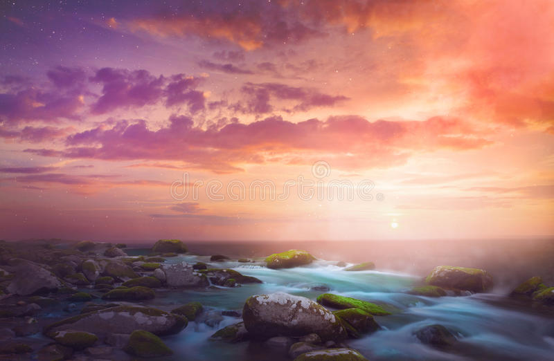 Красивый восход солнца утра стоковые изображения rf