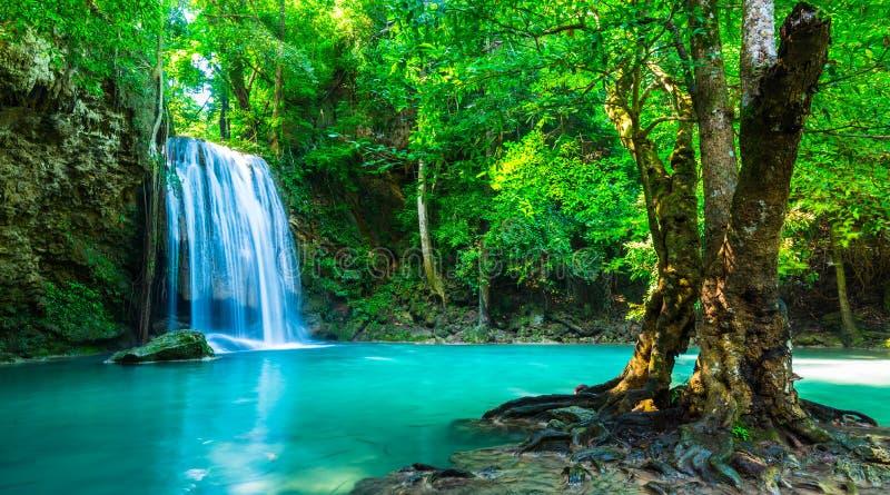 Красивый водопад в национальном парке Таиланда стоковое фото rf