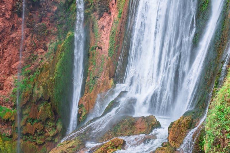 Красивый водопад в Ouzoud, Azilal, Марокко Грандиозный атлас стоковое фото rf