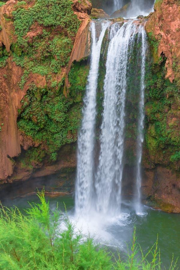 Красивый водопад в Ouzoud, Azilal, Марокко Грандиозный атлас стоковые изображения