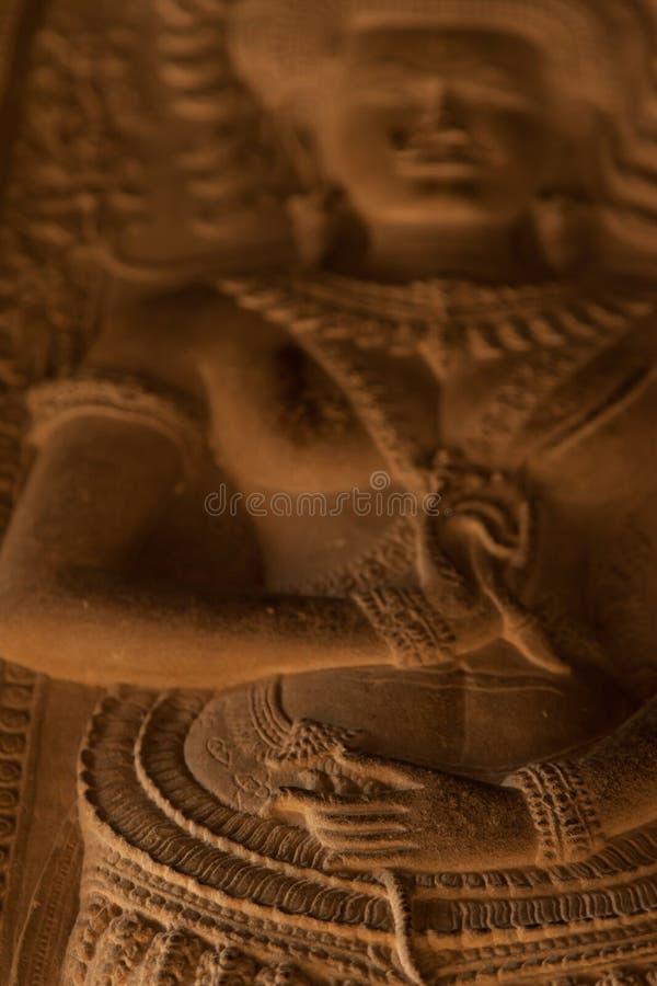 Красивый высекать Apsara стоковая фотография
