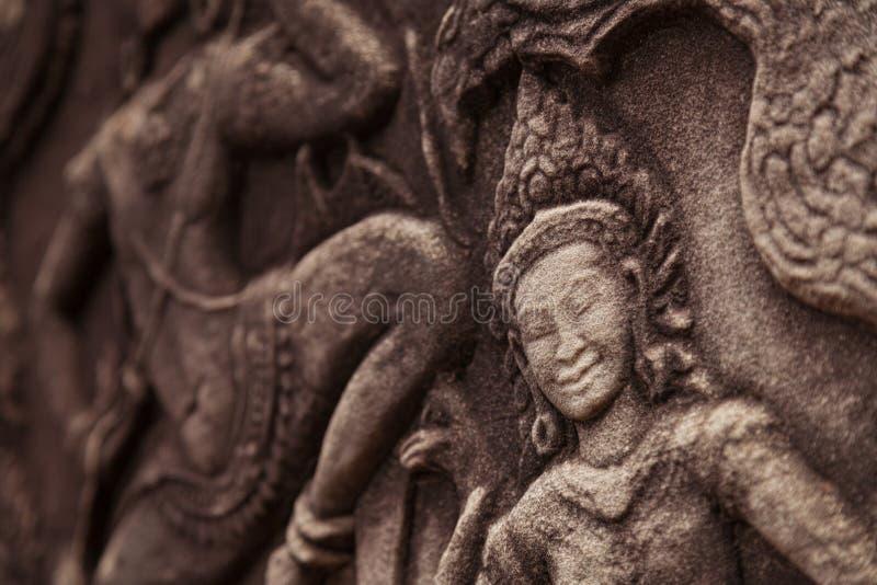 Красивый высекать Apsara стоковое изображение
