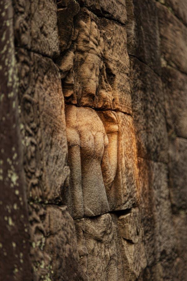 Красивый высекать Apsara стоковое фото