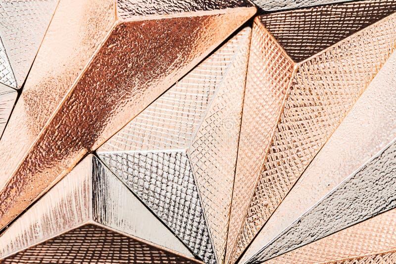 Красивый геометрический трехмерный конспект металла стоковая фотография