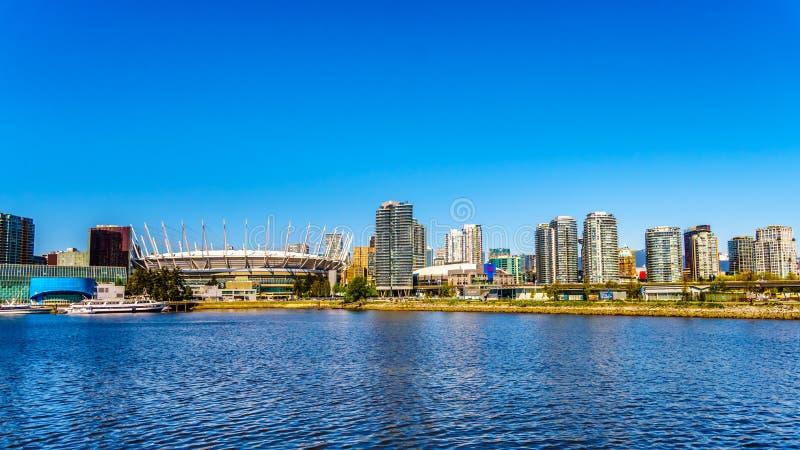 Красивый горизонт Ванкувера, Канады стоковое изображение