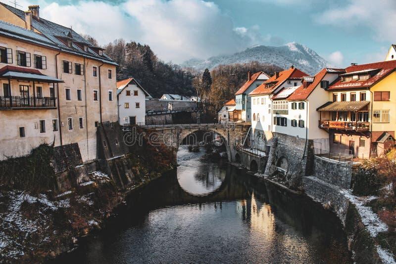 Красивый городок в Словении стоковые изображения