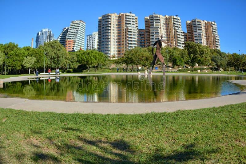 Красивый городской пейзаж в Валенсия стоковое фото