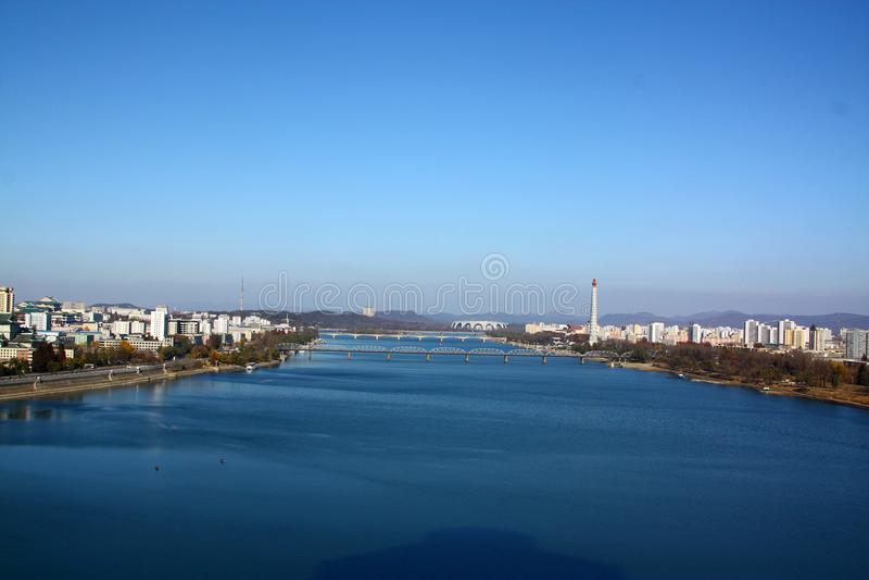 Красивый город Пхеньяна Северной Кореи стоковое фото
