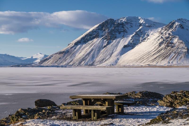 Красивый город Hofn arround держателя, Hofn, Исландия стоковые фото
