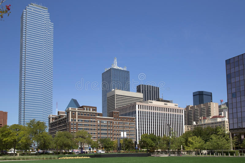 Красивый город Даллас стоковая фотография