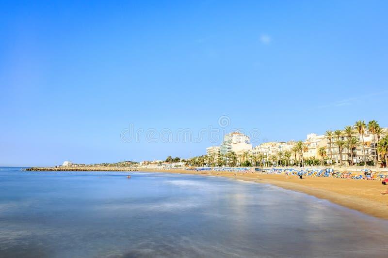 Красивый городок Sitges, Каталонии, Испании стоковые изображения rf