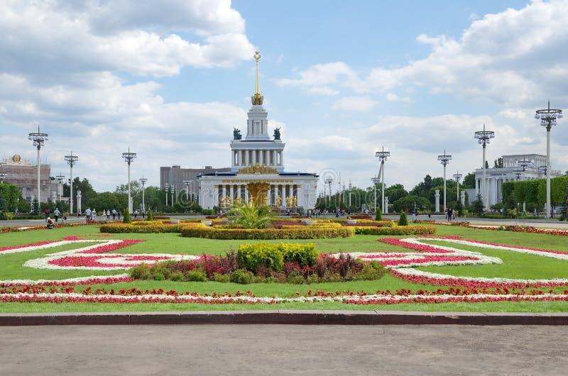 Красивый дизайн ландшафта на ENEA в Москве, России стоковое фото