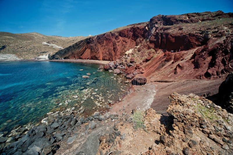 Красивый день в Santorini Греции, Европа стоковые фотографии rf