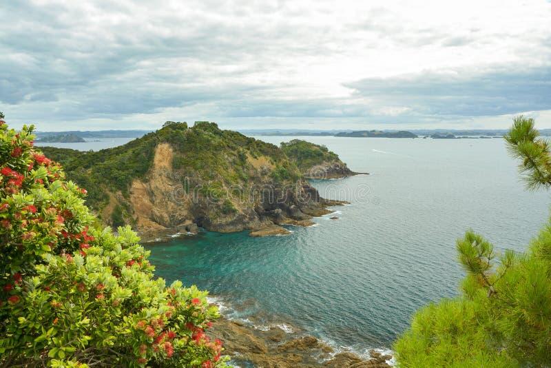 Красивый залив островов, Новой Зеландии стоковые фотографии rf