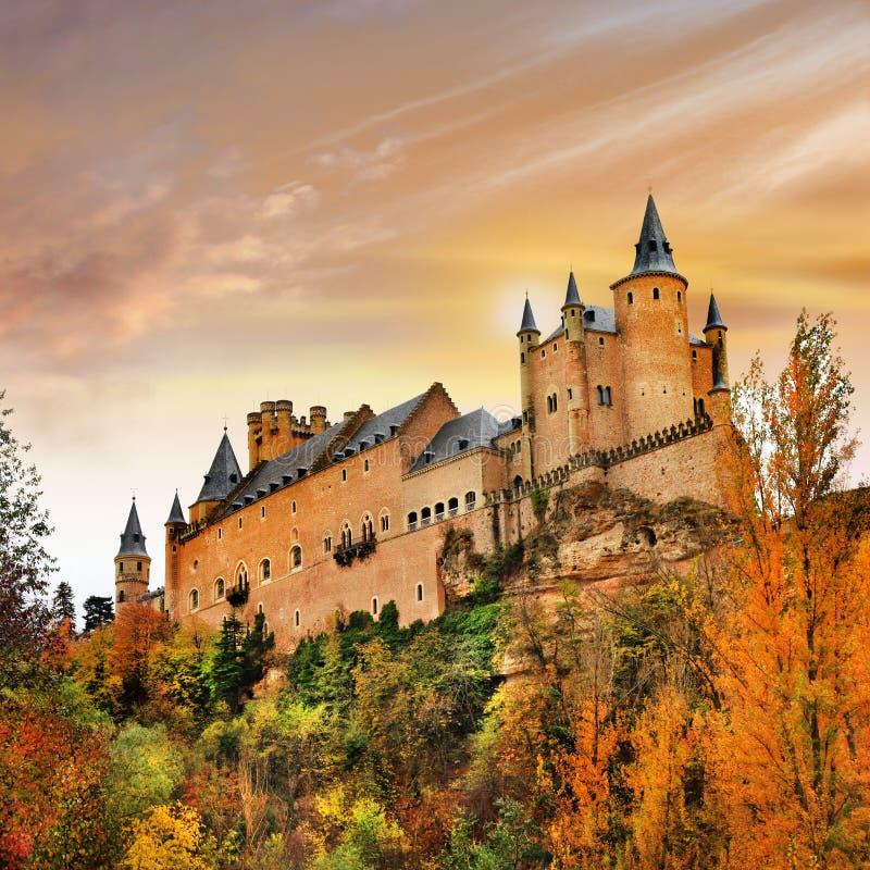 Красивый замок Alcazar стоковые изображения