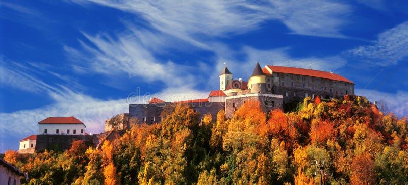 Красивый замок Palanok или замок Mukachevo стоковое фото rf