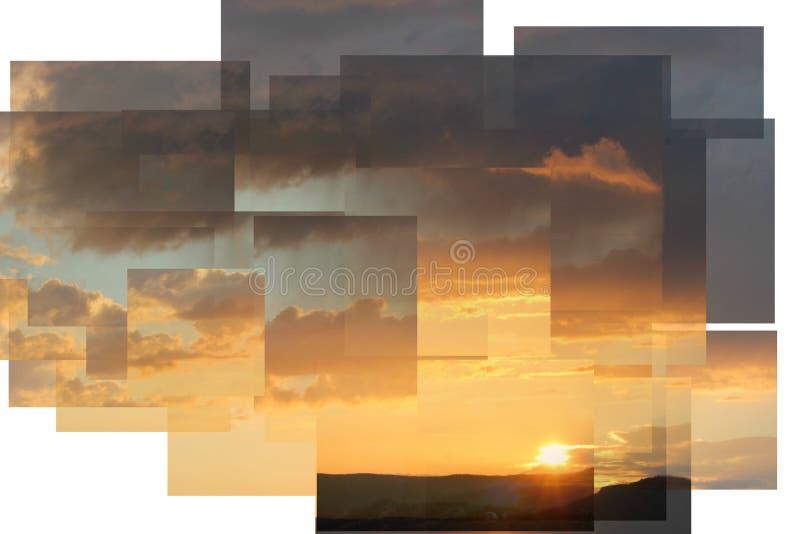 Последние лучи солнца стоковое изображение rf