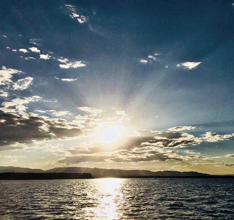 Красивый заход солнца Колорадо стоковая фотография
