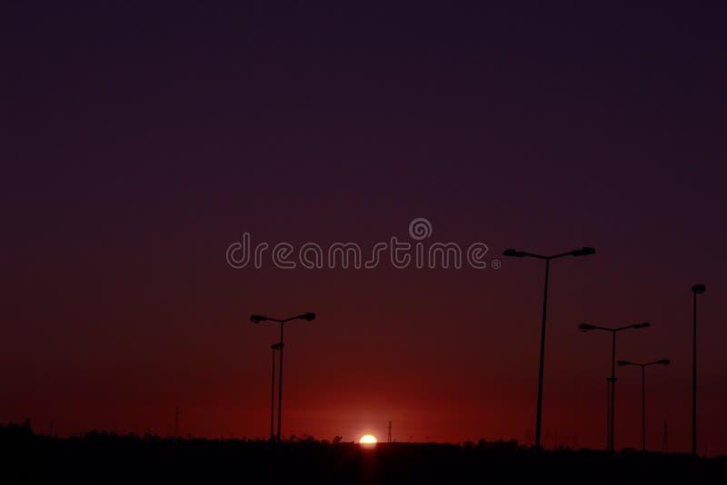 Красивый заход солнца на Португалии стоковая фотография rf