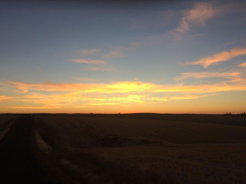 Красивый заход солнца Айдахо стоковые изображения rf