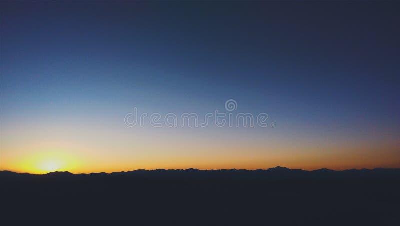 Красивый заход солнца в Колорадо стоковая фотография rf