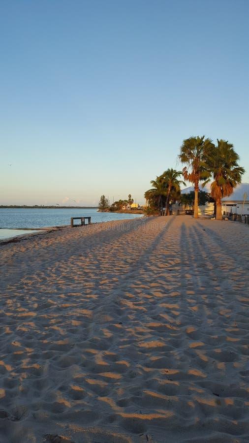 Красивый заход солнца St. Lucie порта в Флориде стоковая фотография