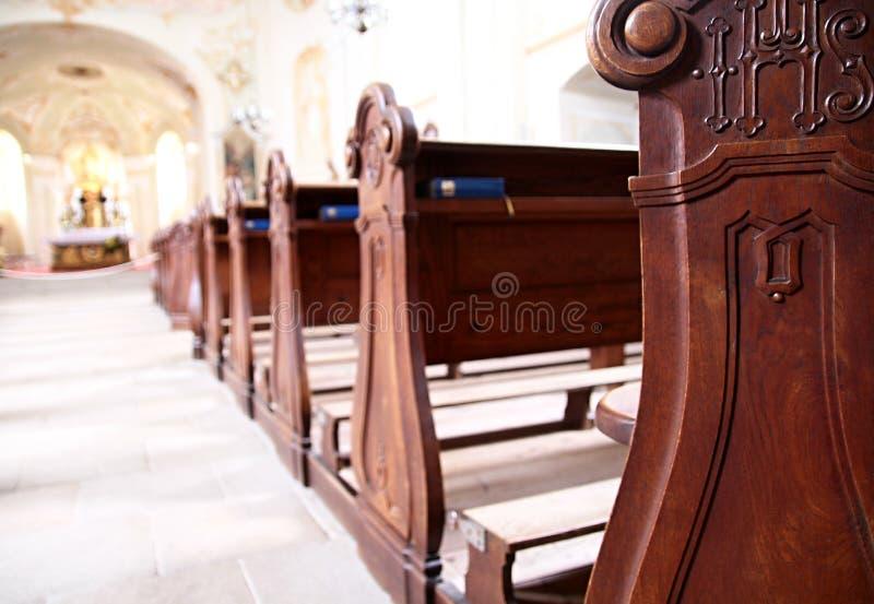 Красивый интерьер церков стоковое фото rf