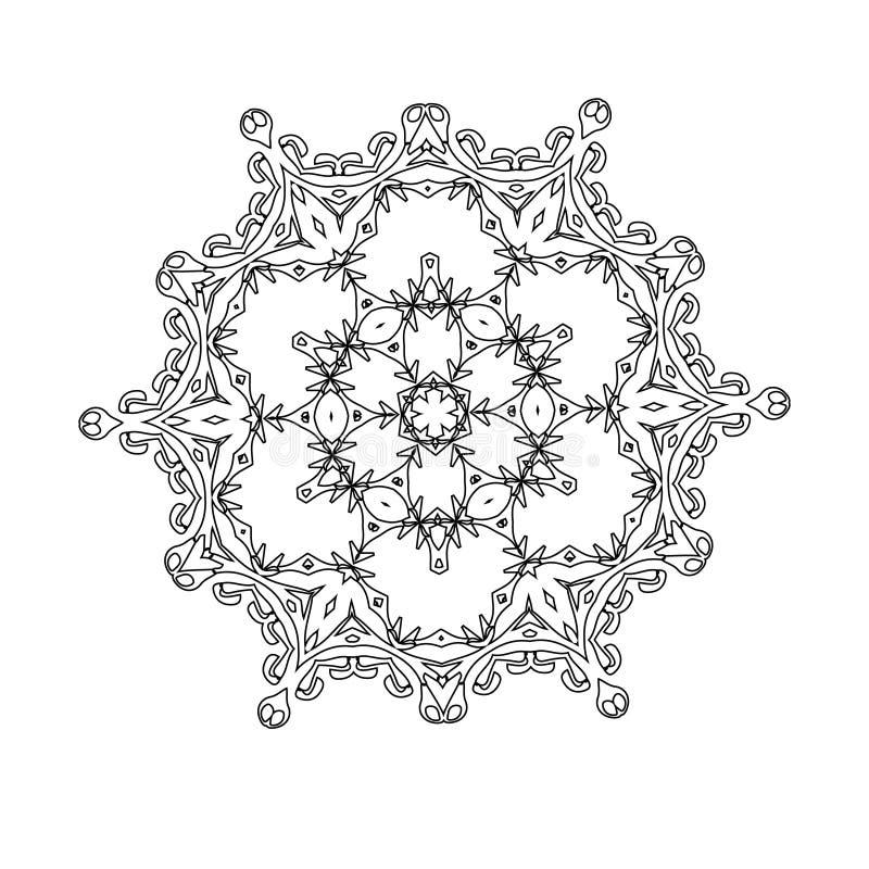 Красивый индийский флористический орнамент мандала бесплатная иллюстрация