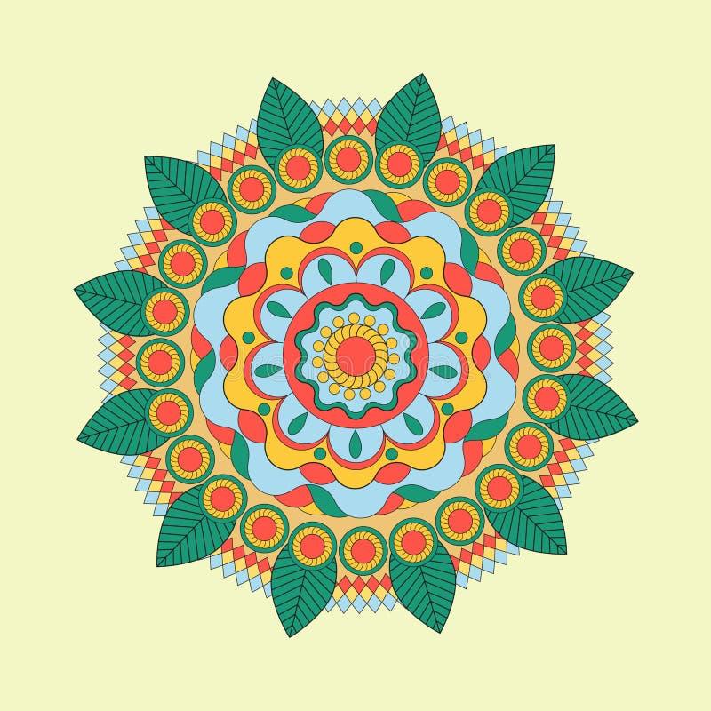 Красивый индийский флористический орнамент можно использовать как поздравительная открытка бесплатная иллюстрация