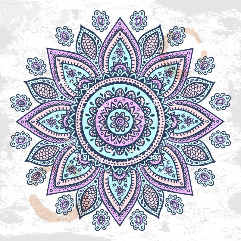 Красивый индийский флористический орнамент бесплатная иллюстрация