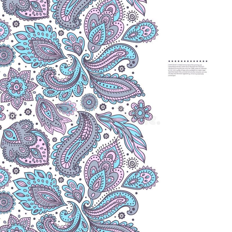 Красивый индийский флористический орнамент иллюстрация вектора