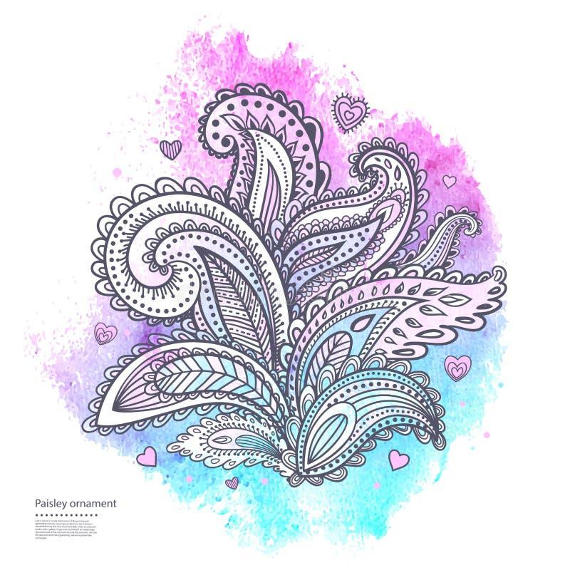 Download Красивый индийский флористический орнамент Иллюстрация вектора - иллюстрации насчитывающей родн, цветок: 40590948