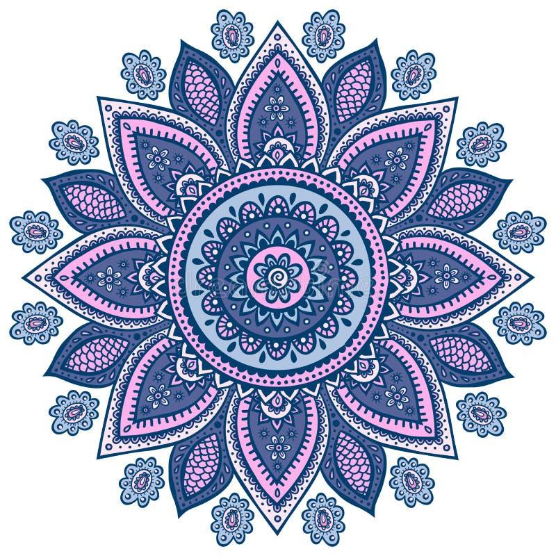 Красивый индийский флористический орнамент иллюстрация штока