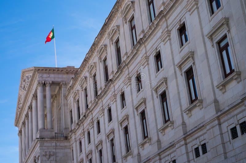 Красивый исторический традиционный парламент расквартировывает Лиссабон стоковое фото rf