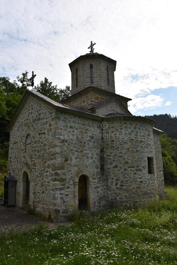 Красивый и сногсшибательный монастырь Gorcince стоковые изображения rf