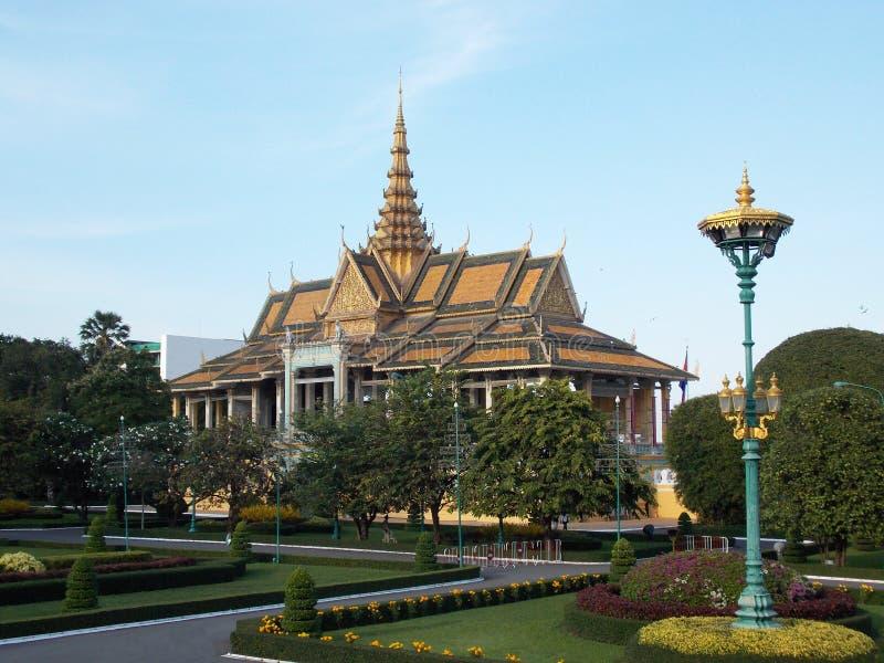 Красивый королевский дворец, Камбоджа стоковая фотография