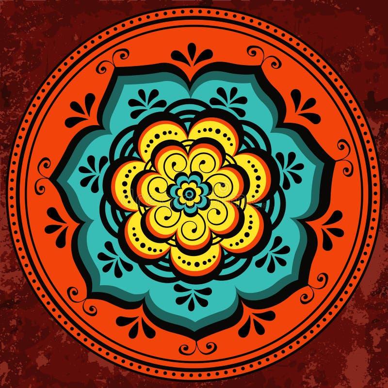 Красивый круглый орнамент бесплатная иллюстрация