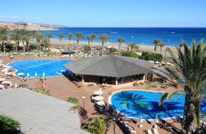 Красивый курорт в Фуэртевентуре, Канарских островах. стоковое изображение rf