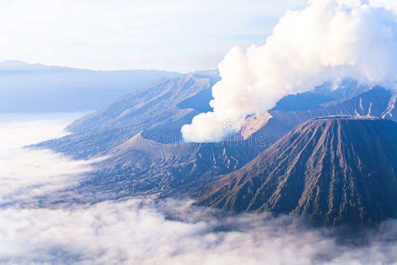 Красивый ландшафт вулкана Bromo стоковая фотография rf