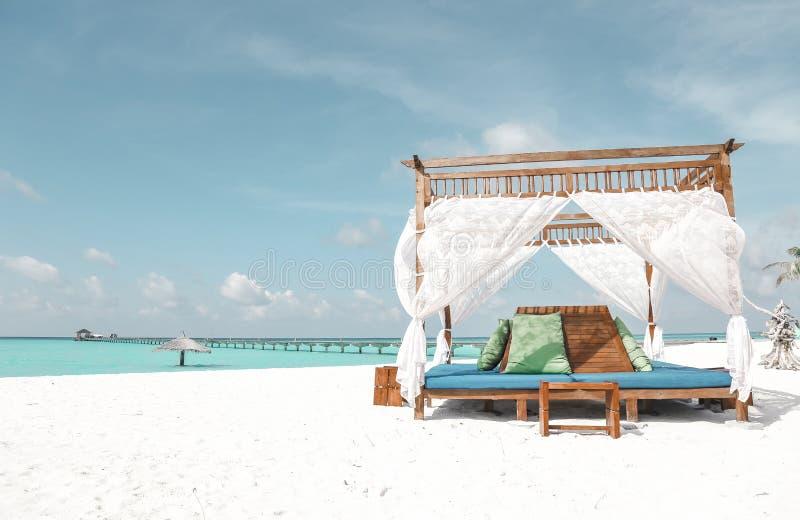 Красивый ландшафт на Maldive островах стоковые изображения rf
