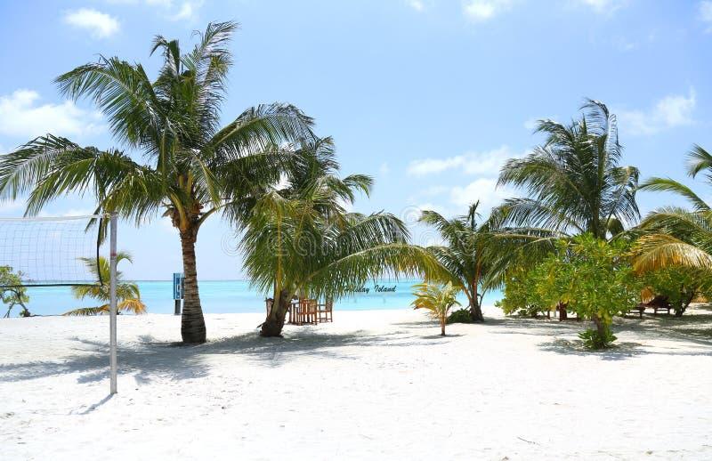 Красивый ландшафт на Maldive островах стоковое изображение rf