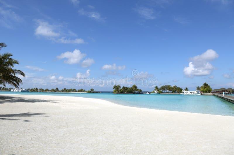 Красивый ландшафт на Maldive островах стоковое изображение