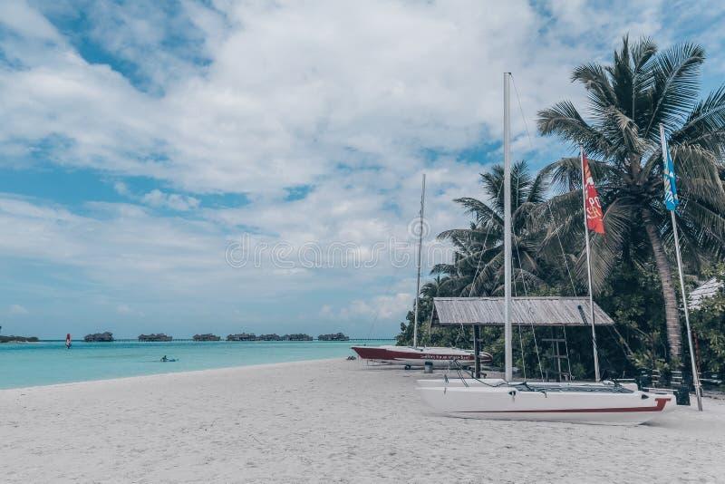 Красивый ландшафт на Maldive островах стоковая фотография rf
