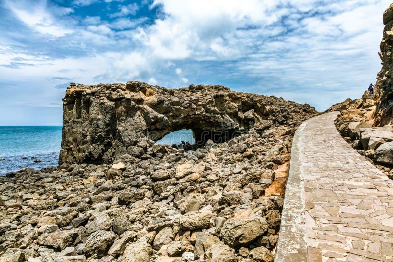 Красивый ландшафт пещеры кита стоковое фото rf