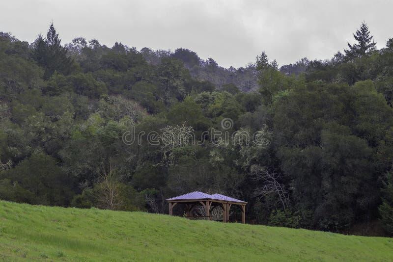 Красивый ландшафт с газебо в Napa Valley стоковое фото