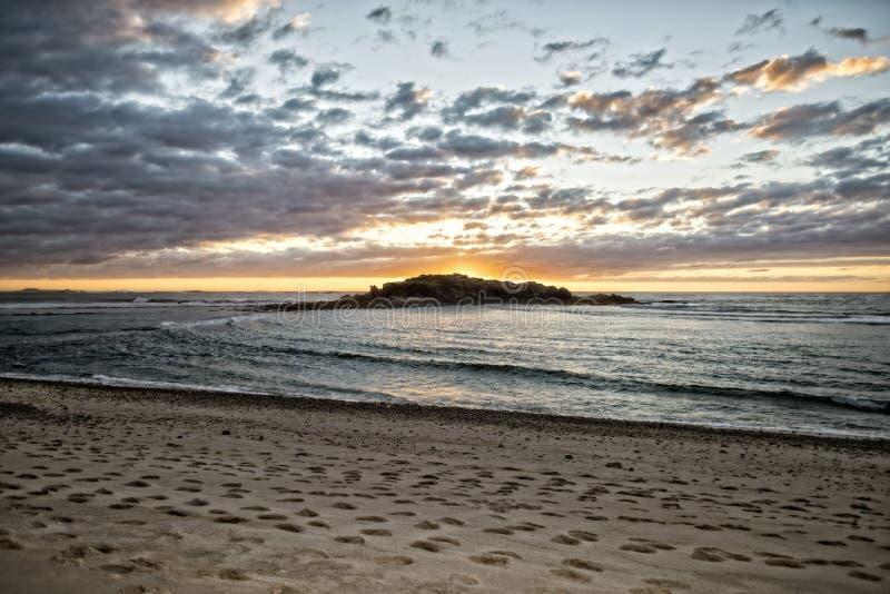 Красивый мексиканский пляж в Punta de Mita, Мексике стоковые изображения rf